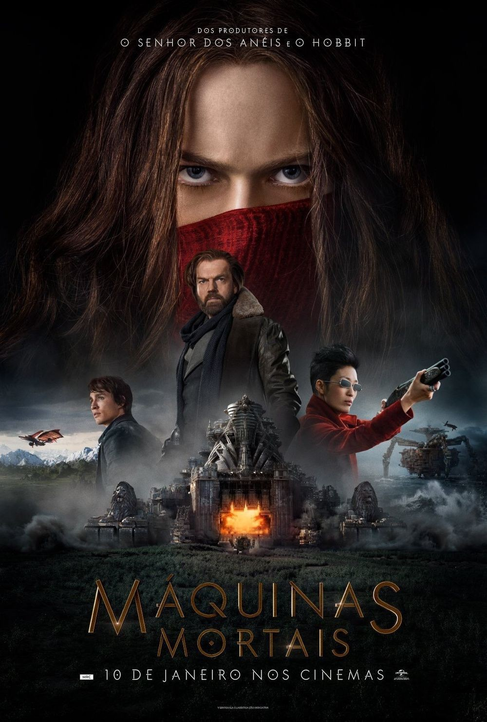Mortal Engines (2018) 3D HSBS Dual Audio Hindi 720p BDRip 911MB ESubs Download