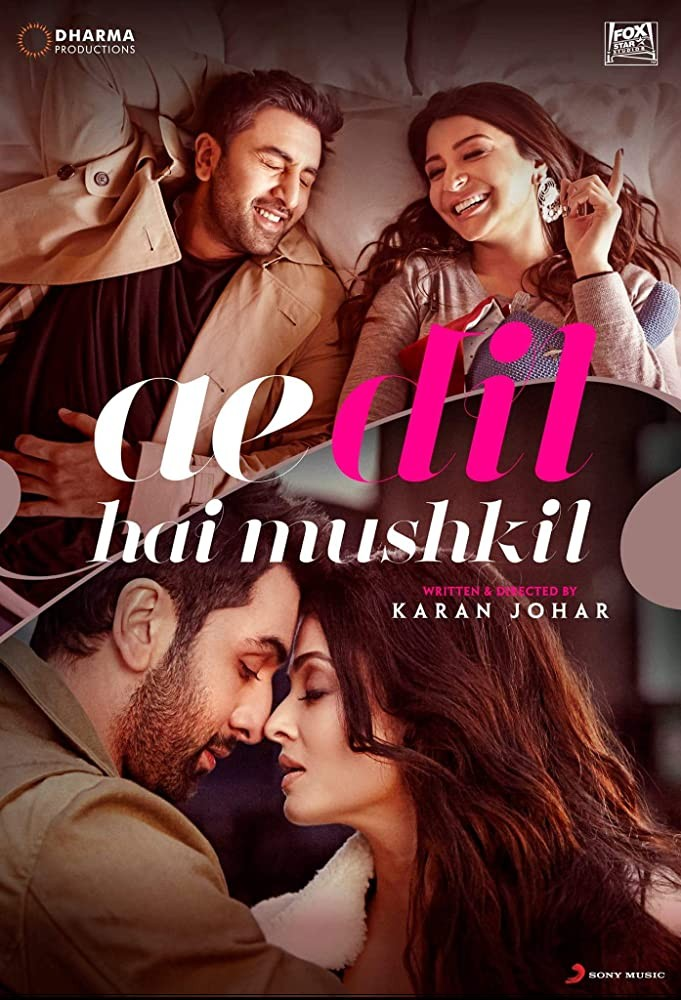 Ae Dil Hai Mushkil 2016 Hindi Movie 500MB BluRay Download