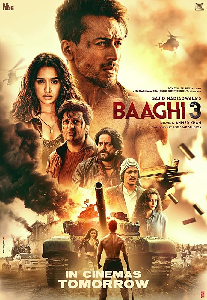 Baaghi 3 (2020) Hindi Movie 720p HDRip 915MB ESubs Download