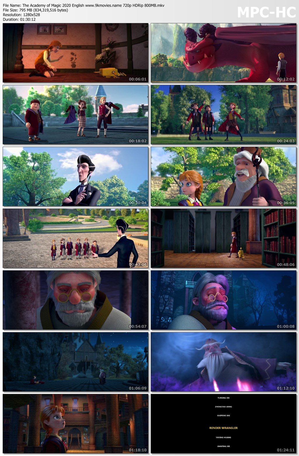 The Academy of Magic 2020 English 720p HDRip 800MB Download