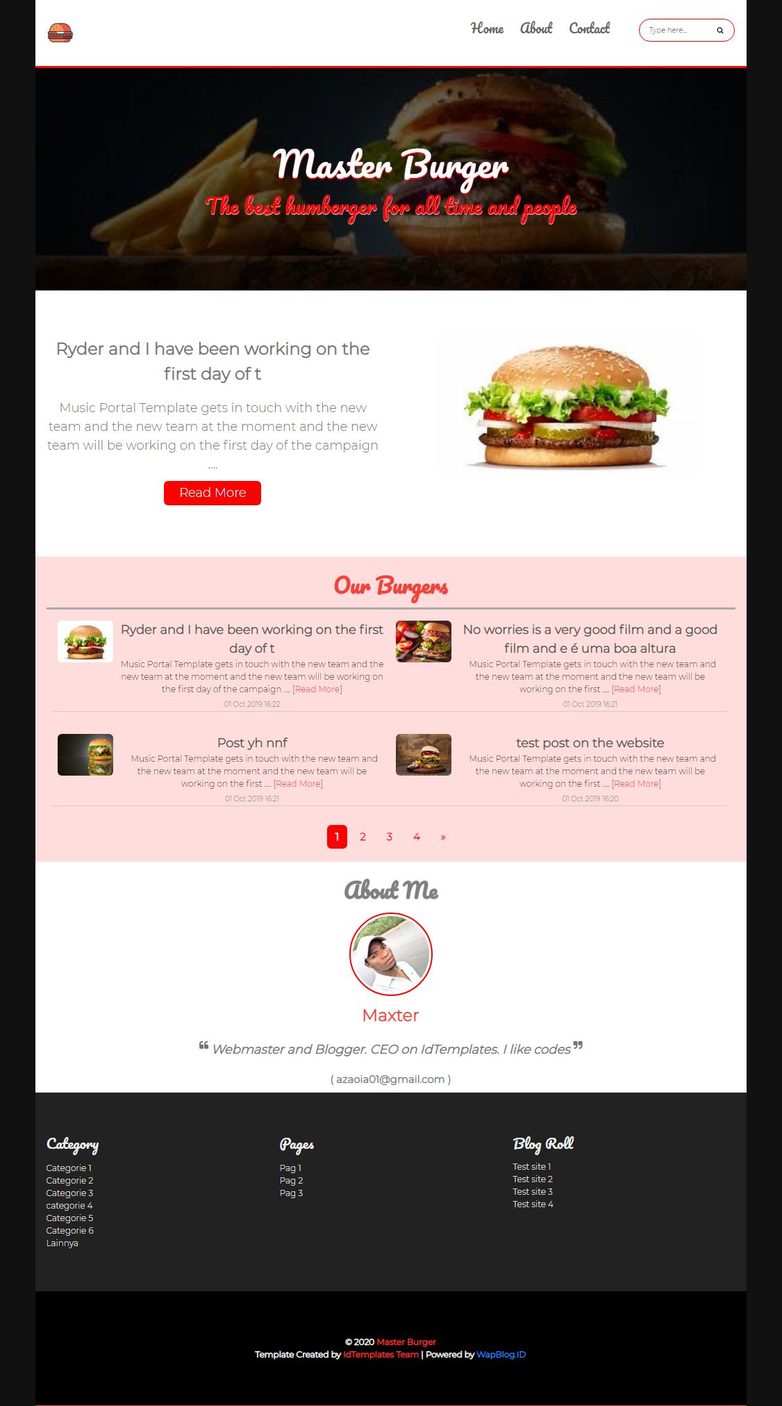 Image of Master Burger Template