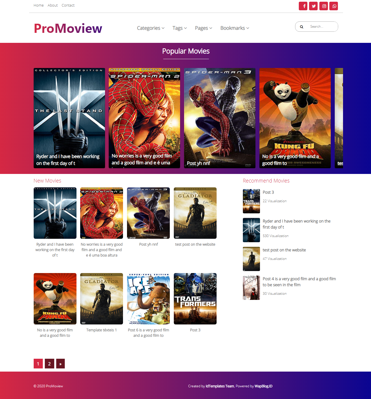 Image of ProMoview Template
