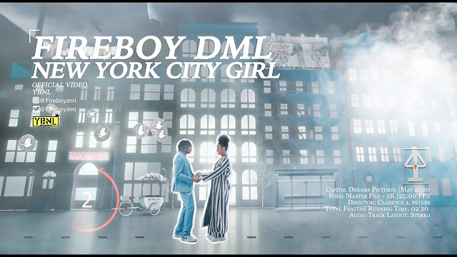 [VIDEO] Fireboy DML – New York City Girl