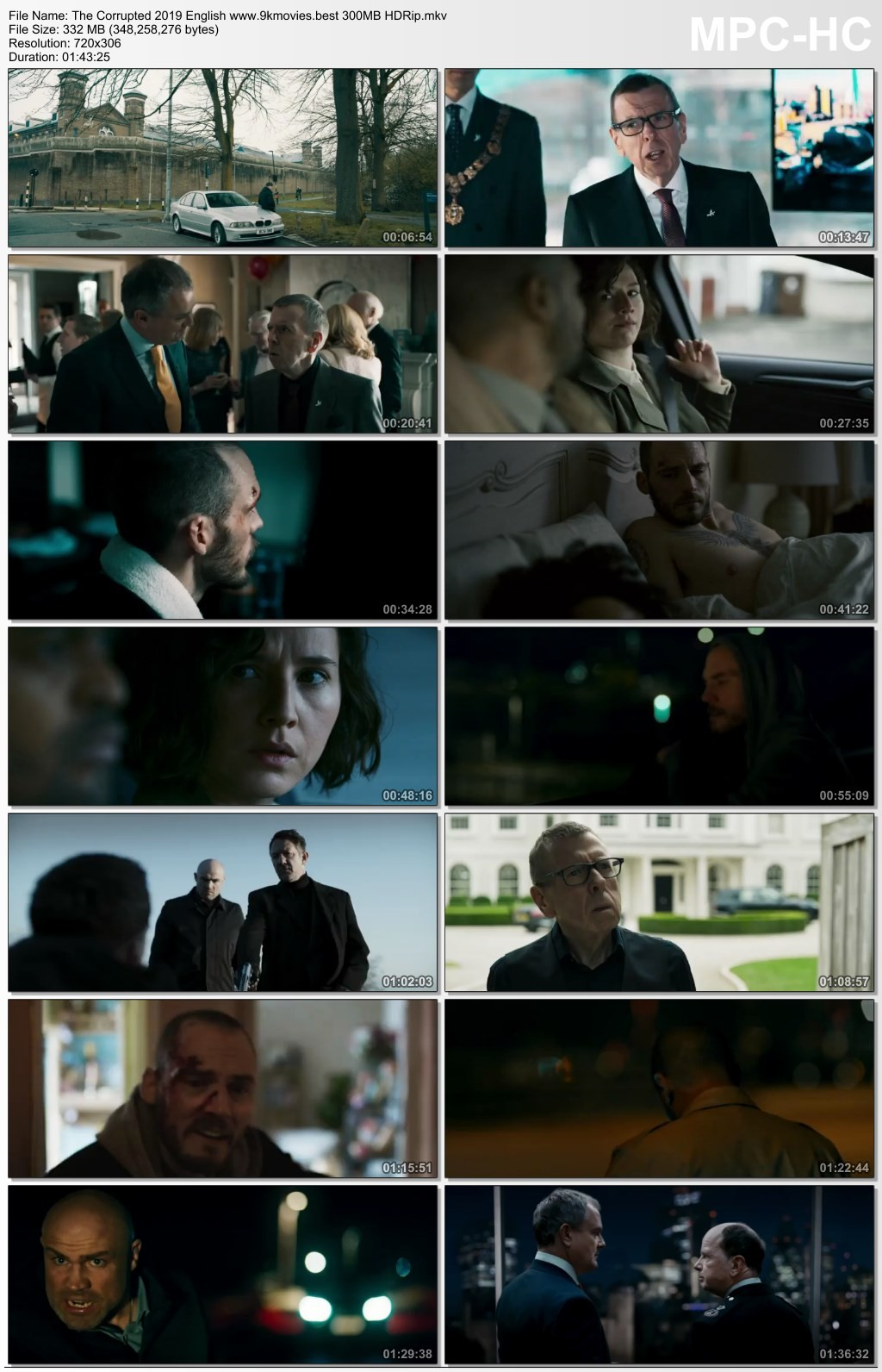 The Corrupted 2019 English 300MB HDRip Download