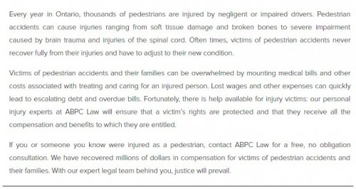 ABPC Personal Injury Lawyer 202-450 Bronte St S Milton, ON L9T 5B7 (289) 270-2419  https://abpclaw.ca/milton-personal-injury-lawyer.html
